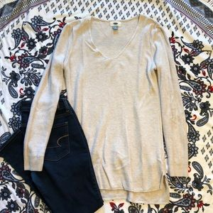 Old navy, off white, long sleeve shirt